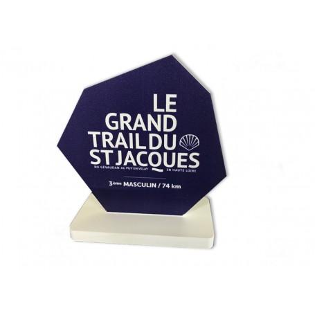 TROPHÉE PVC 10mm PERSONNALISÉ course sportive