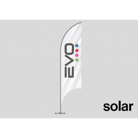 Drapeau publicitaire (oriflamme ou beach flag) modèle Solar