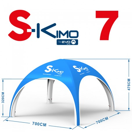 Tente publicitaire gonflable S-KIMO 7x7m
