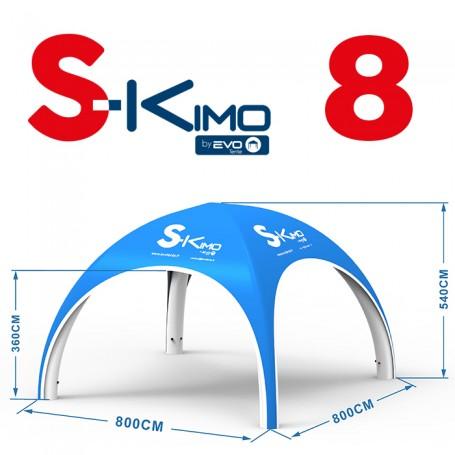 Tente publicitaire gonflable S-KIMO 8x8m
