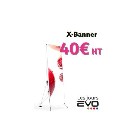 X banner ou roll-up en vente à 40€ seulement