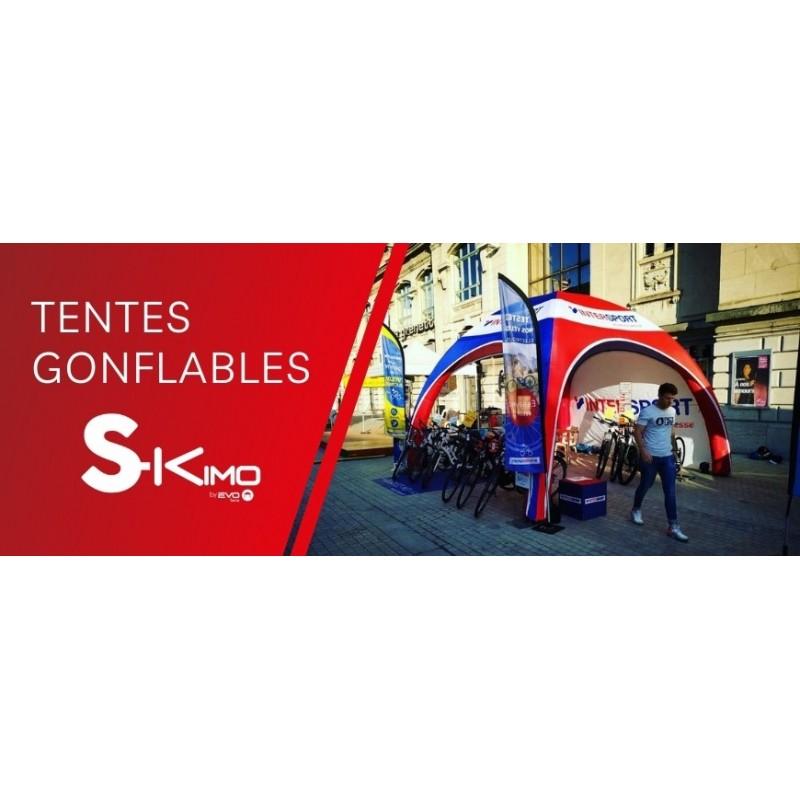 Vente en ligne de tente gonflable personnalisable du 3x3 au 8x8
