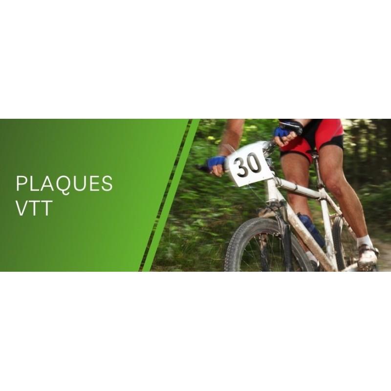 Impression de plaque VTT personnalisée pour course cycliste