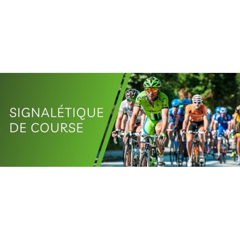 Impression en ligne de signalétique de course cycliste & course à pieds