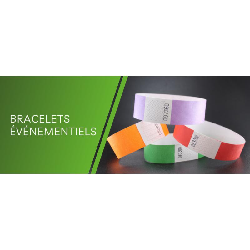 Bracelets TYVEK unis ou personnalisés pour vos événements - EVO