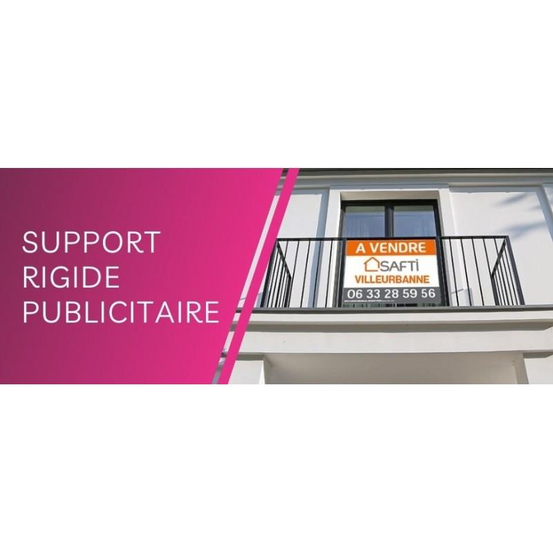 Supports rigides publicitaires : Impression en ligne de panneaux personnalisables en alu dibond, PVC, akylux